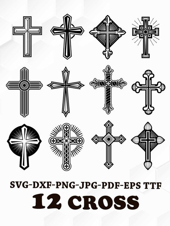 Cross Svg Crosses Clipart Cross Svg Silhouette Files Christian