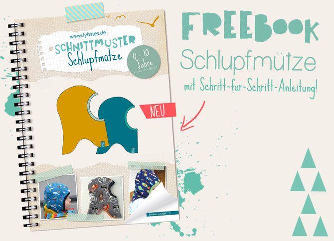 Schlupfmützen Freebook, Wintermütze Schnittmuster umsonst nähen für Baby, E-Book by Lybstes