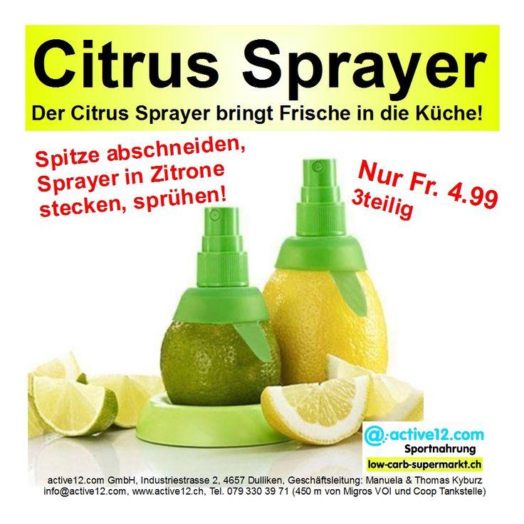 Citrus Sprayer, 3teilig, 2 verschieden grosse Sprayer und Frucht - Halter. Der Citrus Sprayer bringt Frische in die Küche! NEU IM SORTIMENT, nur CHF 4.99 #Citrussprayer #Zitrone #VitaminC #Gesundheit #Immunsystem #Antioxidantien #Küche #kochen #Küchentool #lowcarb #lowcarbs #lowcarbschweiz #lowcarbswitzerland #lowcarblife #lowcarbliving #lowcarbfood #lowcarbdiet #abnehmen #eatclean #fitness #fitnessschweiz #active12 #natural http://www.active12.ch/Neu-im-Sortiment/Citrus-Sprayer.html