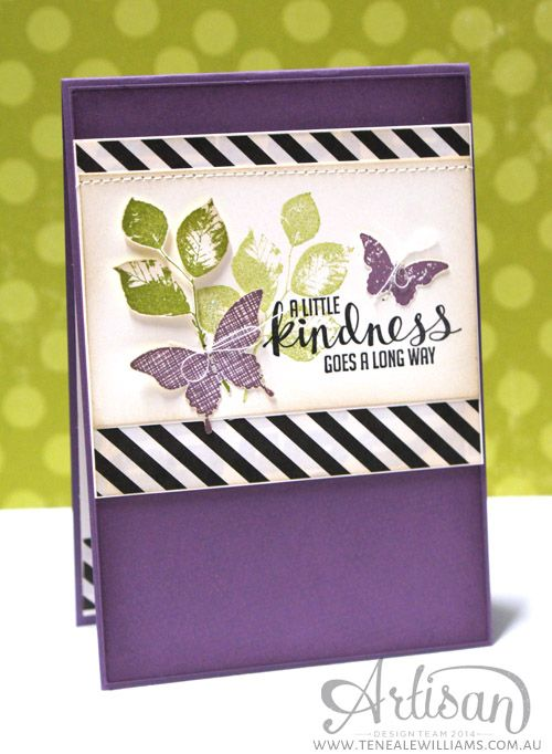 By Teneale Williams   INKspired Sketch Blog Hop 2    Stampin Up! Kinda  Eclectic