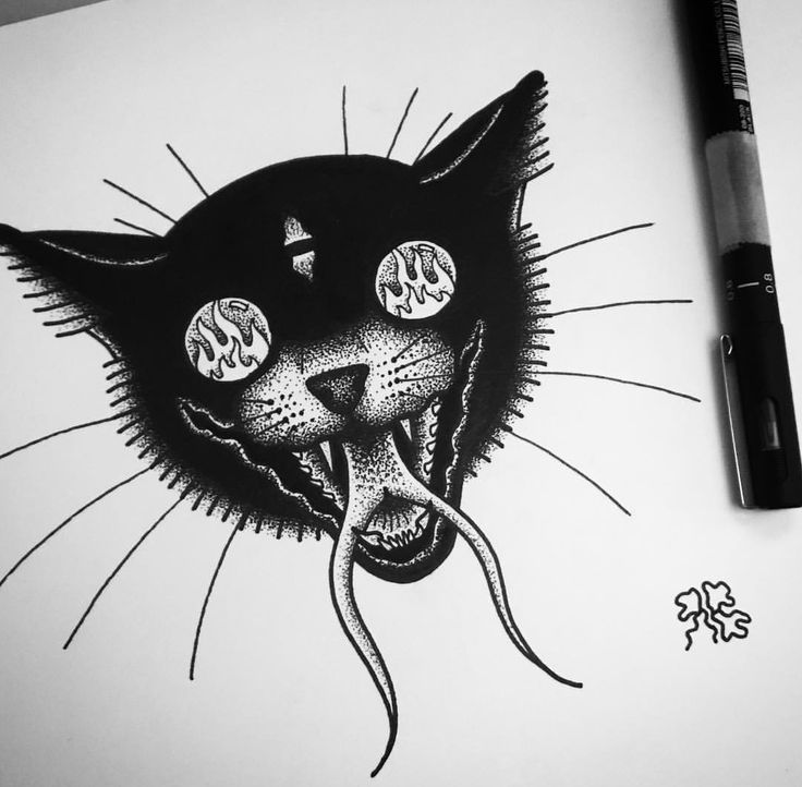 Demon Cat | Artist @roleybizzle