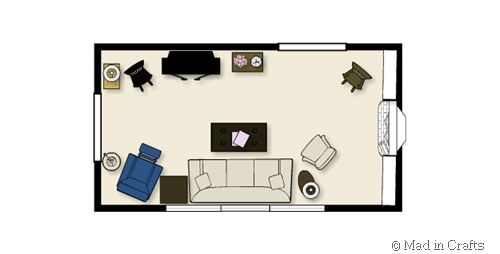 Website gives u ideas how to arrange ur furniture