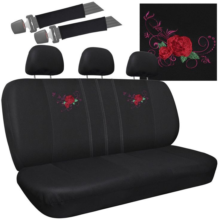 Cool Great Car Seat Covers for Honda Civic Red Rose Flower Bench w/Belt Pads/Head Rests 2017/2018 Check more at http://auto24.ga/blog/great-car-seat-covers-for-honda-civic-red-rose-flower-bench-wbelt-padshead-rests-20172018/