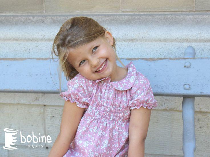 Isaure : adorable dans notre robe Lisette à l'imprimé Ibiza ! :) http://www.bobine.fr/fille-ete-2016/robes/robe-lisette-imprime-ibiza.html
