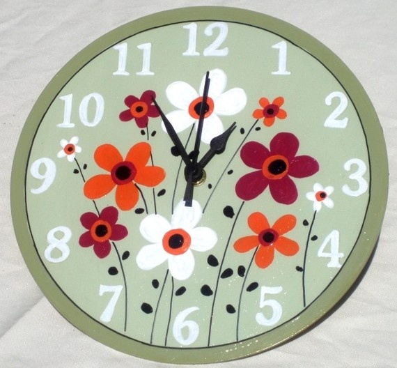 17 Best Images About Painted Clocks On Pinterest Vintage