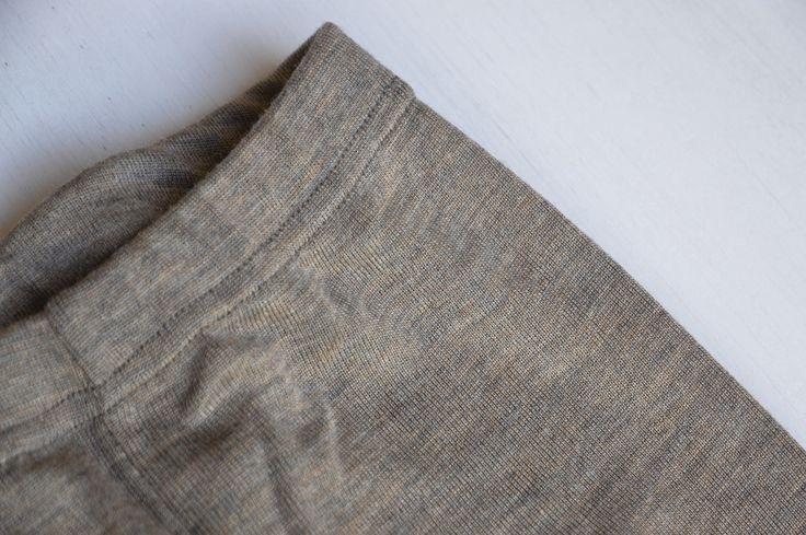Kids Leggings Wool/Silk - Walnut (1-10 years)