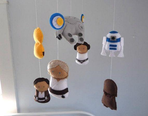Star Wars Mobile Baby Crib Nursery Bedding By Foxfluff
