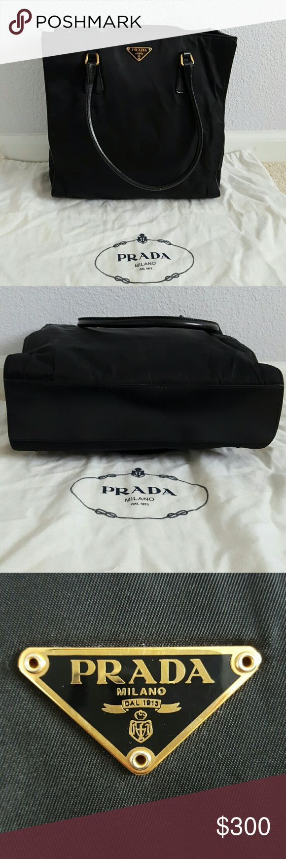 Prada Nylon Tote Bag 100% Authentic and in good condition. Also comes with a duster bag. Prada Bags Totes