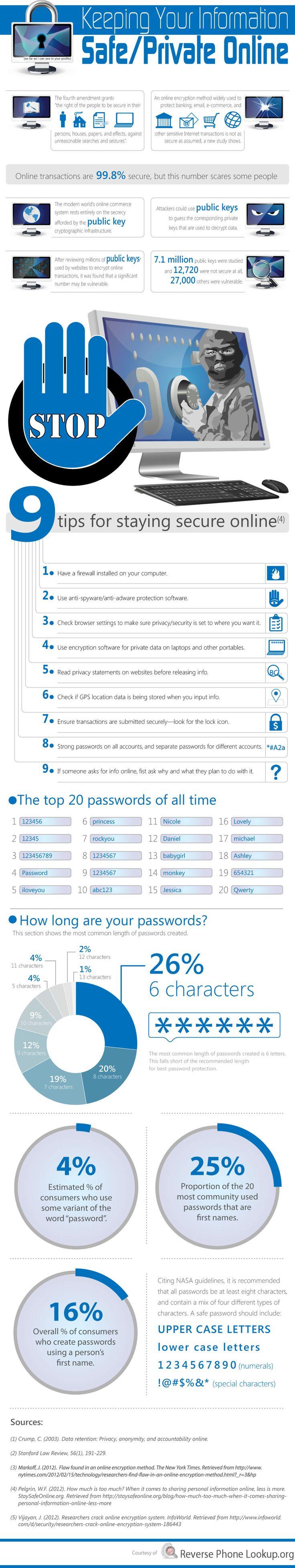 Consejos para tu seguridad online #infograftia #infographic #internet @alfredovela