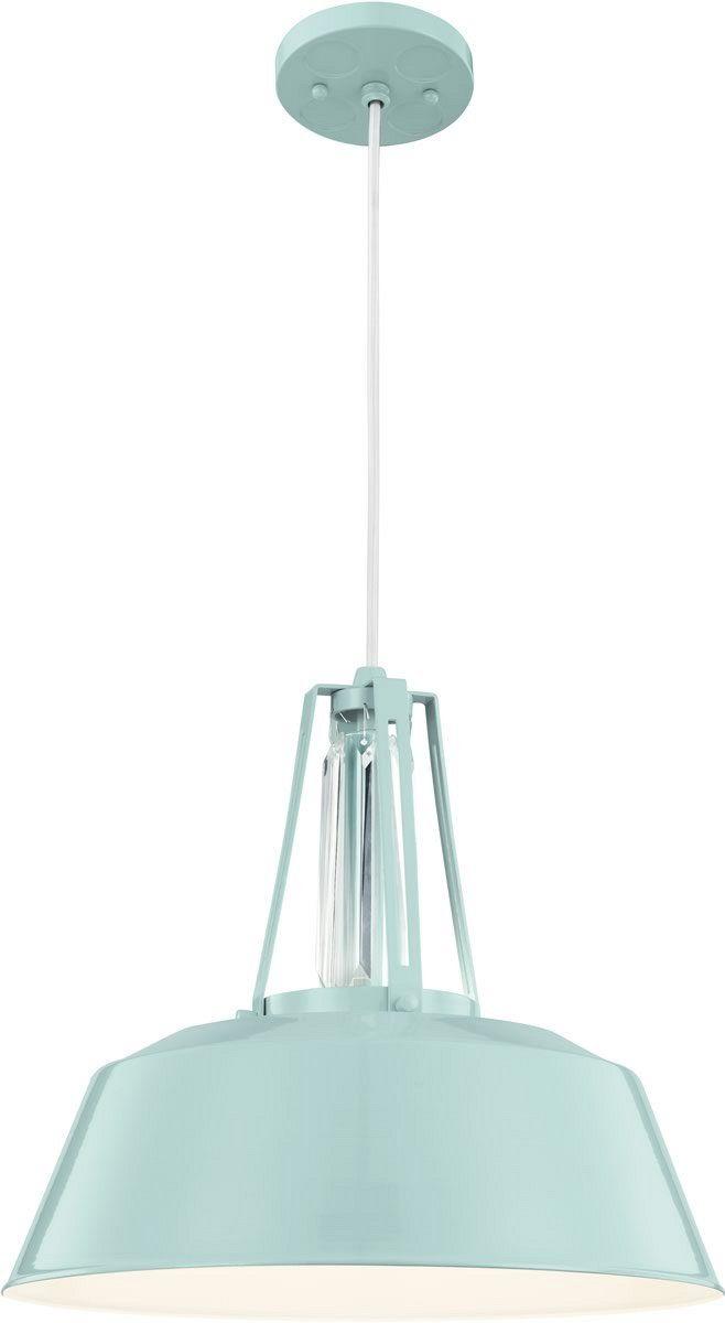 Freemont 1-Light Pendant Hi Gloss Blue - LampsUSA