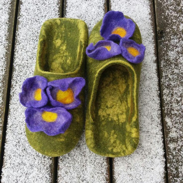 wet felted wool slippers ATRAITNĪTES www.pamana.lv