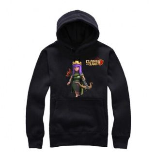 Game Clash of Clans pullover hoodies for men Archer Queen pattern