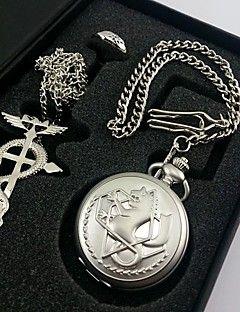 FullMetal Alchemist Edward Elric reloj de bolsillo + anillo del collar + accesorios c... – MXN $ 236.57