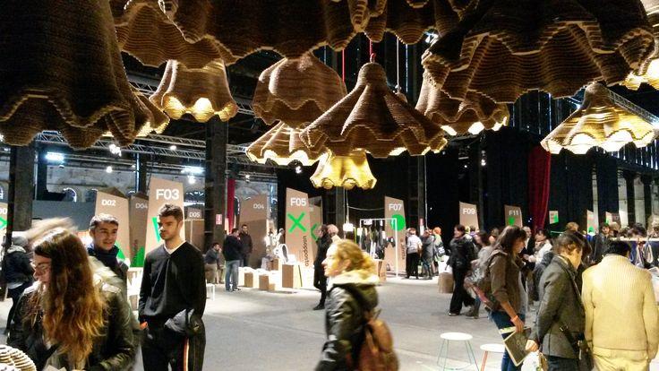 Lo stand a Operae 2013 #operae #torino #cardboard #lamp @operae  #design #exhibition #designexhibition #designevent  #interiordesign #interior #busti #cardboard #cardboarddesign #lighting #lightingdesign #cardboardlighting #cardboardlamps #cardboardlamp  #sustainabledesign #eetico #madeinitaly #operae2013 #torino #turin