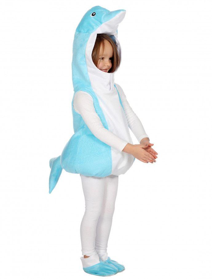 Delfin Kostüm Tier Kinderkostüm Flipper Tierkostüm Delphin Fischkostüm Kinder