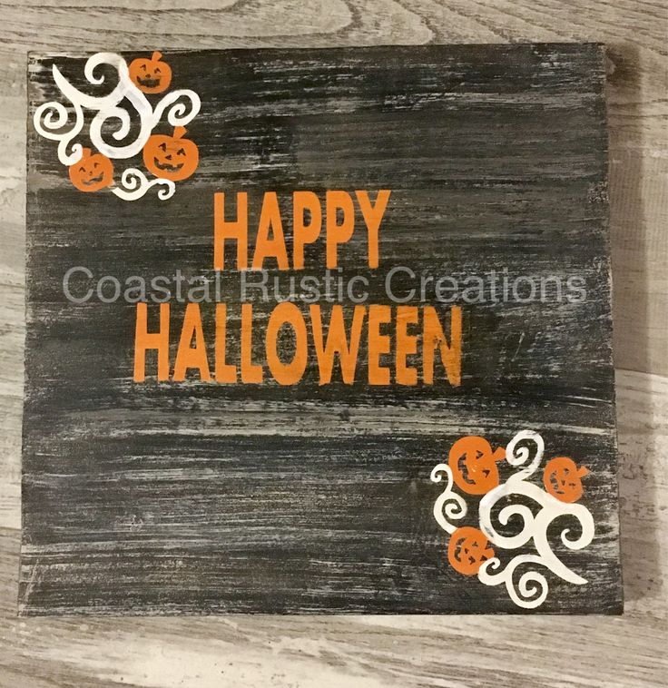 Happy Halloween Rustic hand painted sign
