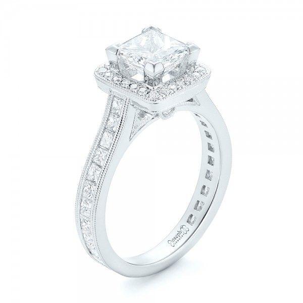 Great Custom Diamond Halo Engagement Ring