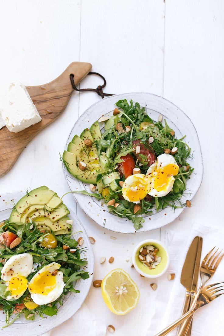Mediterranean Breakfast Salad with Soft-Boiled Egg