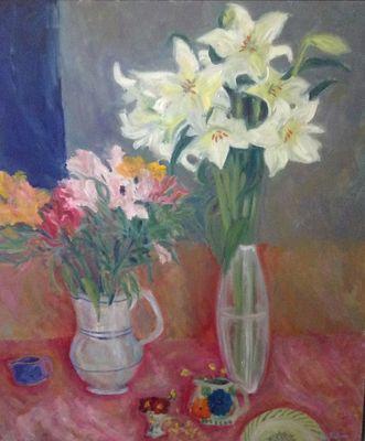 TINA BALMER. Lilies,alstroemeria