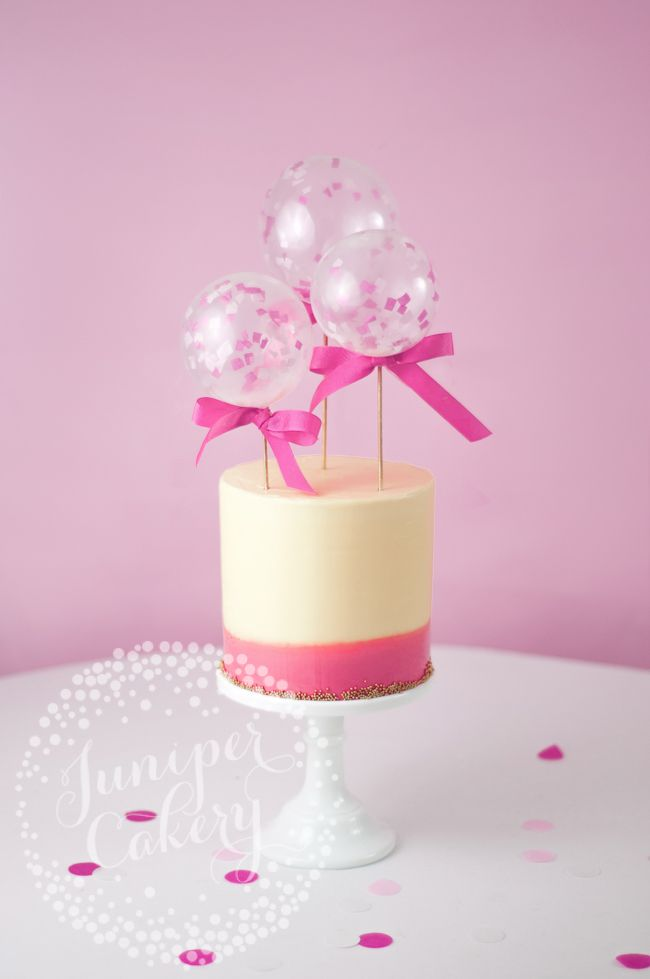 How To Make Adorable Confetti Filled Mini Balloon Cake
