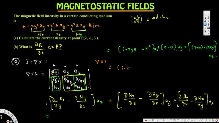 Calculate the current density at point P(2, -1, 3 ) - Magnetostatic Fields