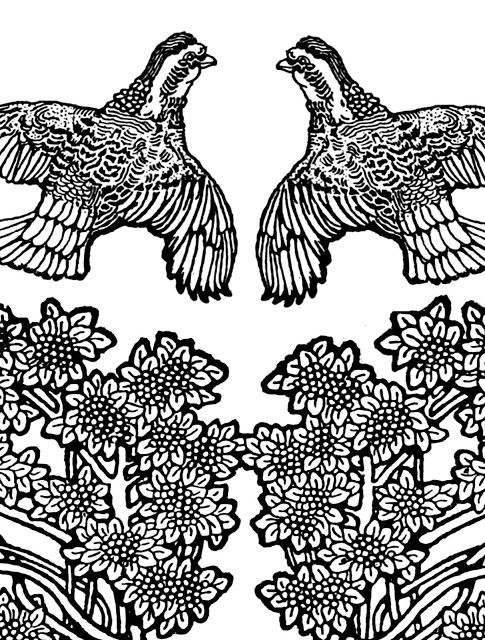 Free Printable Flying Pheasants Coloring Page Coloring Pages