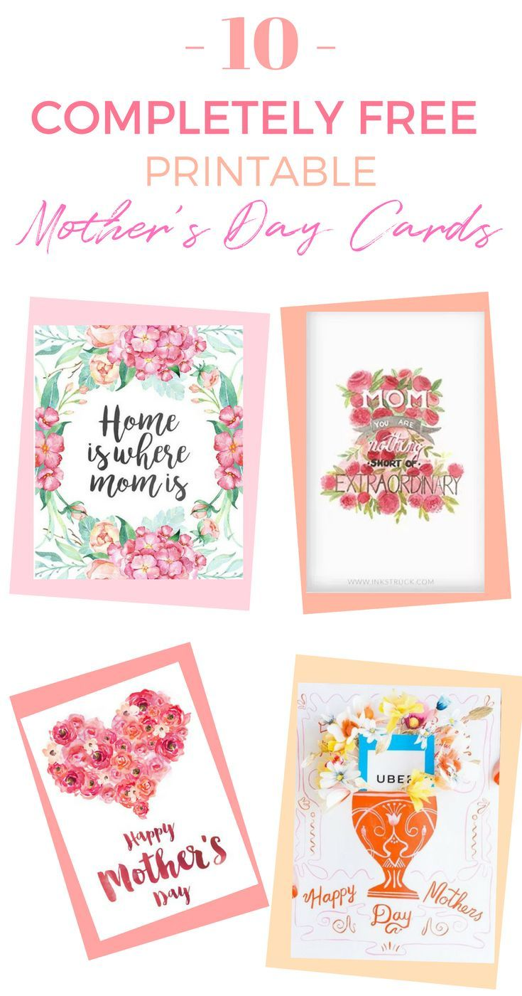 10 Completely Free Printable Mother S Day Cards Mother S Day Gift Card Mothers Day Cards Free Printable Cards