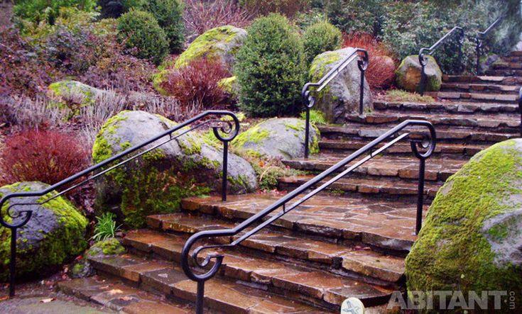 Каскадная садовая лестница