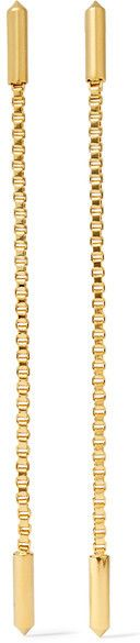 Eddie Borgo - Idle Line Gold-plated Earrings - one size