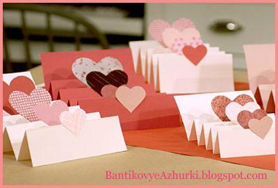 BantikovyeAzhurki.blogspot.com: Валентинки - идеи для открыток на День Святого Валентина.