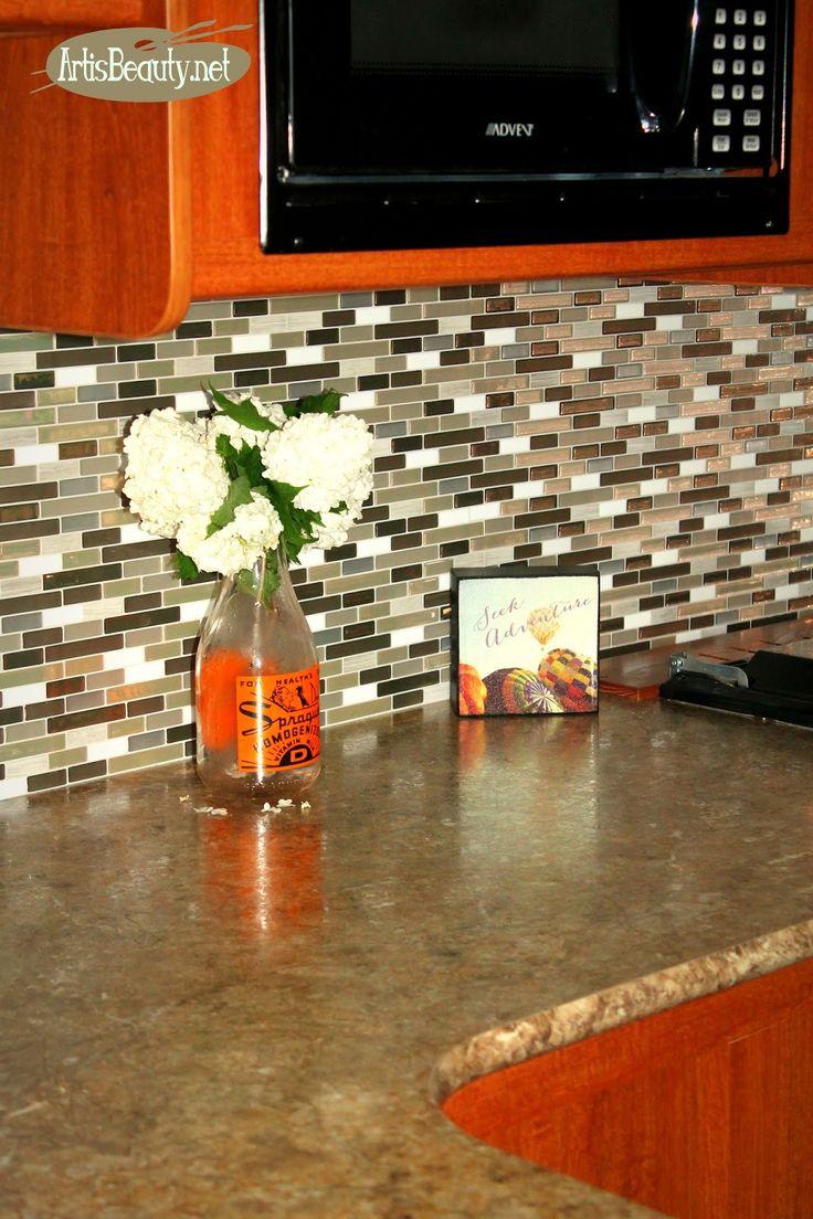 wine cork backsplash protect walls staining kitchen glass fabric