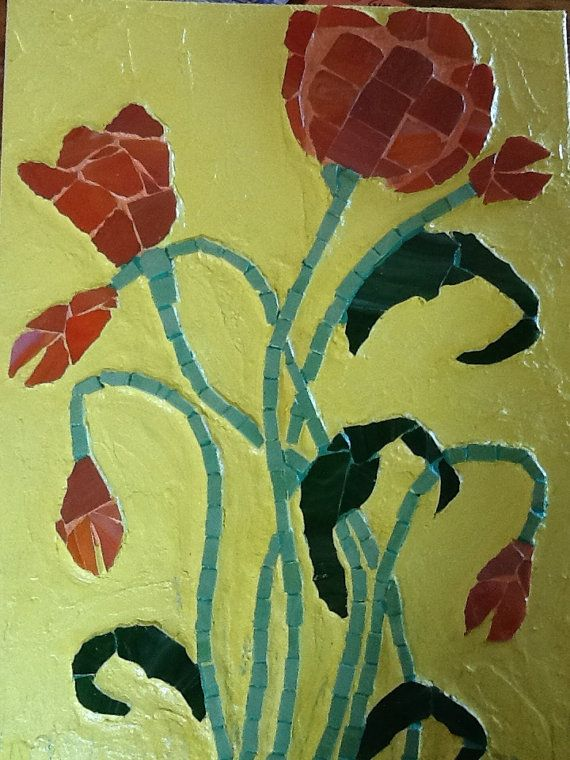 Alluring forever flowers by MosaicmagicArt on Etsy, $155.00