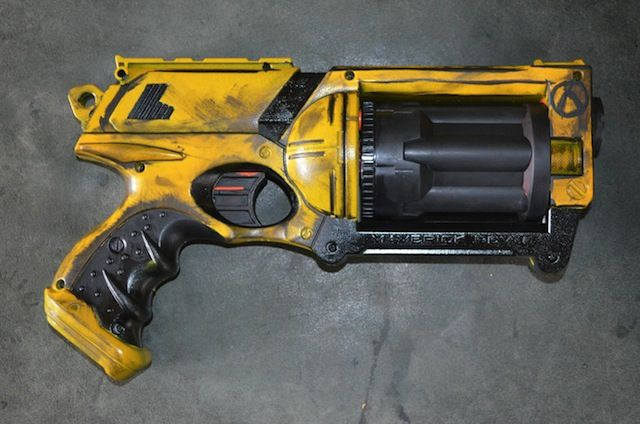 Borderlands  Gun Replicas Created From Nerf Guns Random Tech Images Nerf Mod Borderlands Cosplay Borderlands