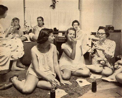 Lesbian teen slumber party