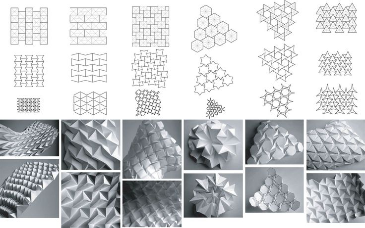 Trying to untether myself from computer generated models // Folding patterns by Daniel Piker