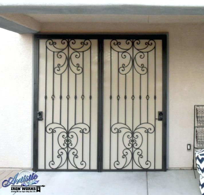 Wrought Iron Security Doors Sliding Patio Screen Luxury Intended
