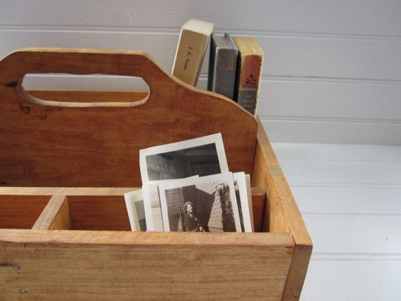 vintage wood boxes for supplies
