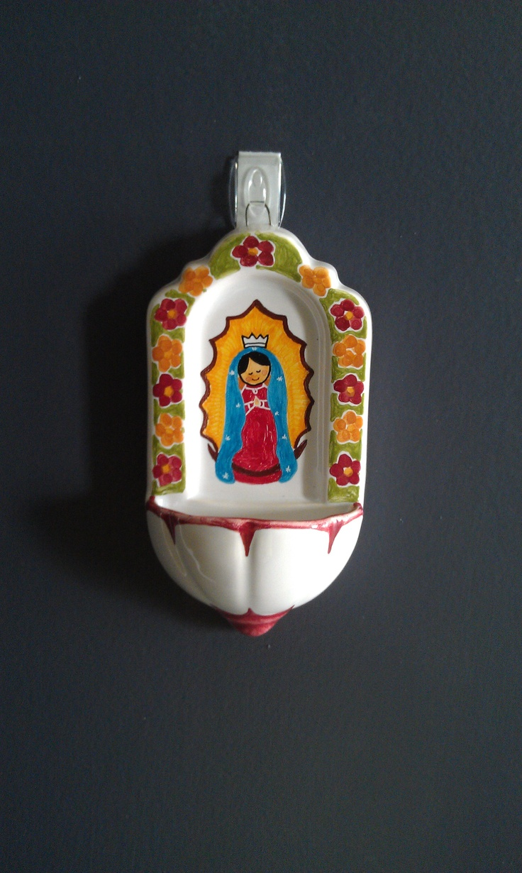 Cute holy water font! Just bought and hung this weekend. Great for the kiddos. Handmade in Mexico, $25.95