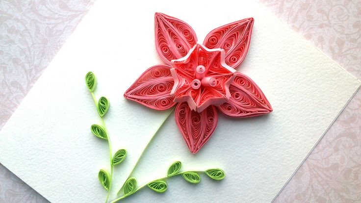 Quilling design Ideas:  How to make a paper Quilling design flower. Quil...