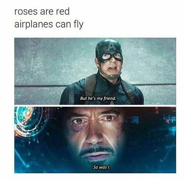 I can't wait for infinity war. It's fucking painful to think that everything is not okay between Tony and Steve :'(