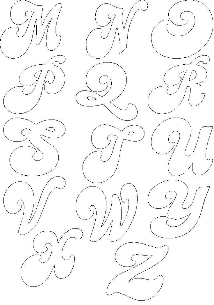 pin moldes abecedario letra cursiva para colorear