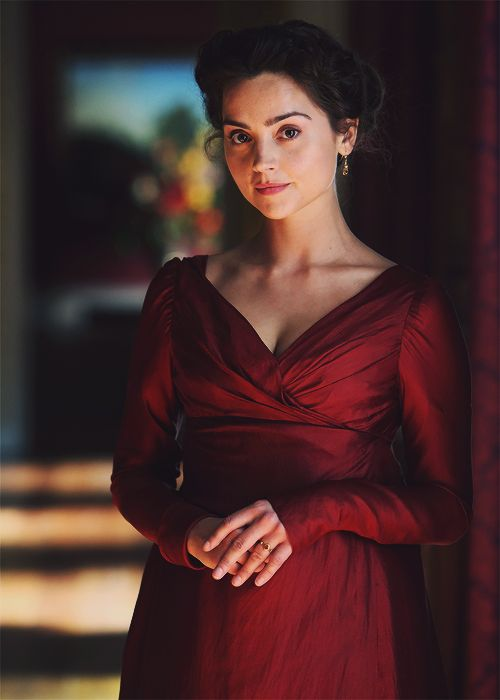 Jenna Coleman in Death Comes to Pemberley (so excited for this!)