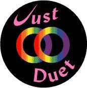 Just Duet - Rainbow Pride Wedding Rings--Gay Pride Rainbow Store BUTTON