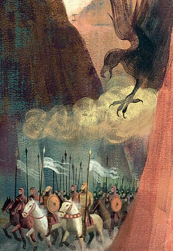 from 'The Song of Roland' illustration by Anna and Elena Balbusso