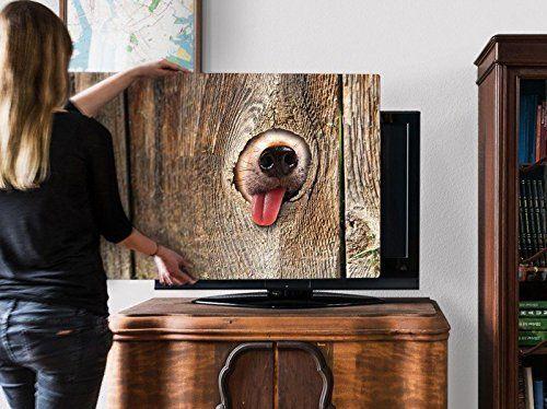 screencover für Flatscreen  mit Motiv BärchenMaul #TV  #Fernseher #Plasma #LED #TV-Abdeckung #Flatscreen Schutz #TV Hülle