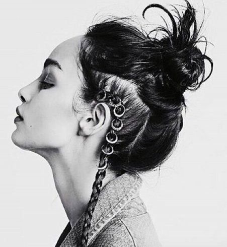 Le #HairMetal ou Hair Rings, nouvelle tendance coiffure très rock'n'roll