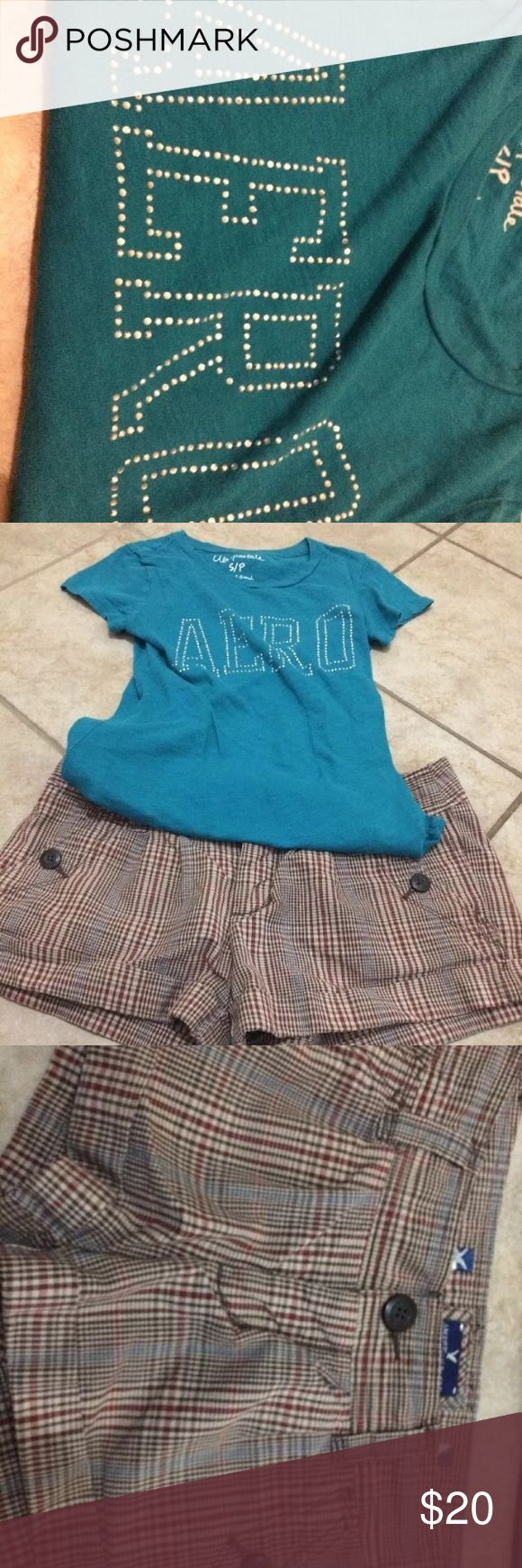 American Eagle Shorts 0 Aeropostale Small Tshirt American Eagle Shorts 0 Aeropostale Small Tshirt  Thanks for looking American Eagle Outfitters Shorts