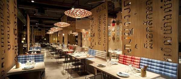 Quot lah restaurant by ilmio design in madrid features fun