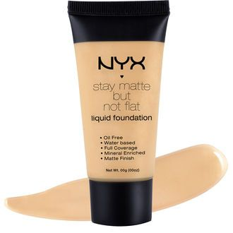 Stay Matte But Not Flat Liquid Foundation provides full coverage with a mineral enriched matte finish. The oil-free and water-based formula is perfect whether you are in the studio or out and about all day!