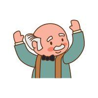Grandfather Old Person Man Male Icon. Vector Graphic